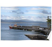 Docked Boat in Donegal Poster