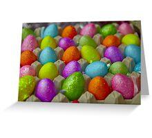 Coloured eggs Greeting Card