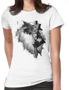 The GUITAR GOD - black Womens Fitted T-Shirt