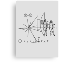 Rock the Universe - modified pioneer plaque Canvas Print