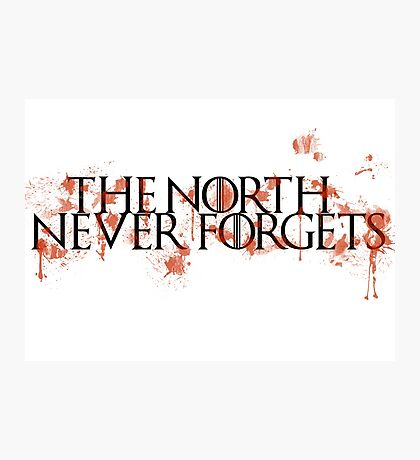 Game Of Thrones - The North Never Forgets Photographic Print