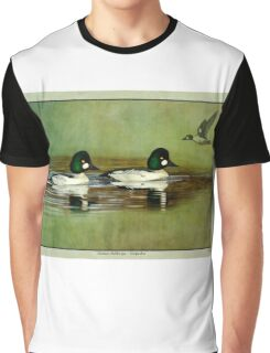 Common Golden-eye Drakes and Flyer Graphic T-Shirt
