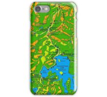 Yellowstone National Park Topographical Map iPhone Case/Skin