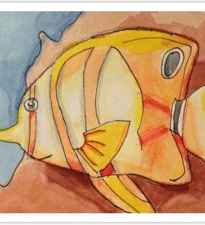 Swimming Fish Sticker