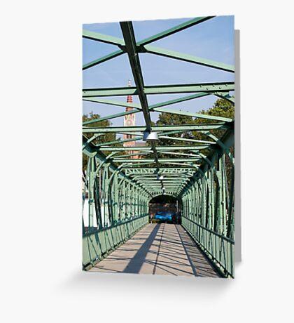 Cast iron pedestrian bridge, Vienna Greeting Card