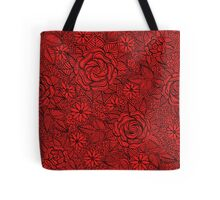 black and white floral pattern Tote Bag