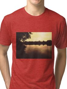 Early morning at the harbour Tri-blend T-Shirt