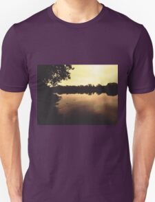 Early morning at the harbour Unisex T-Shirt