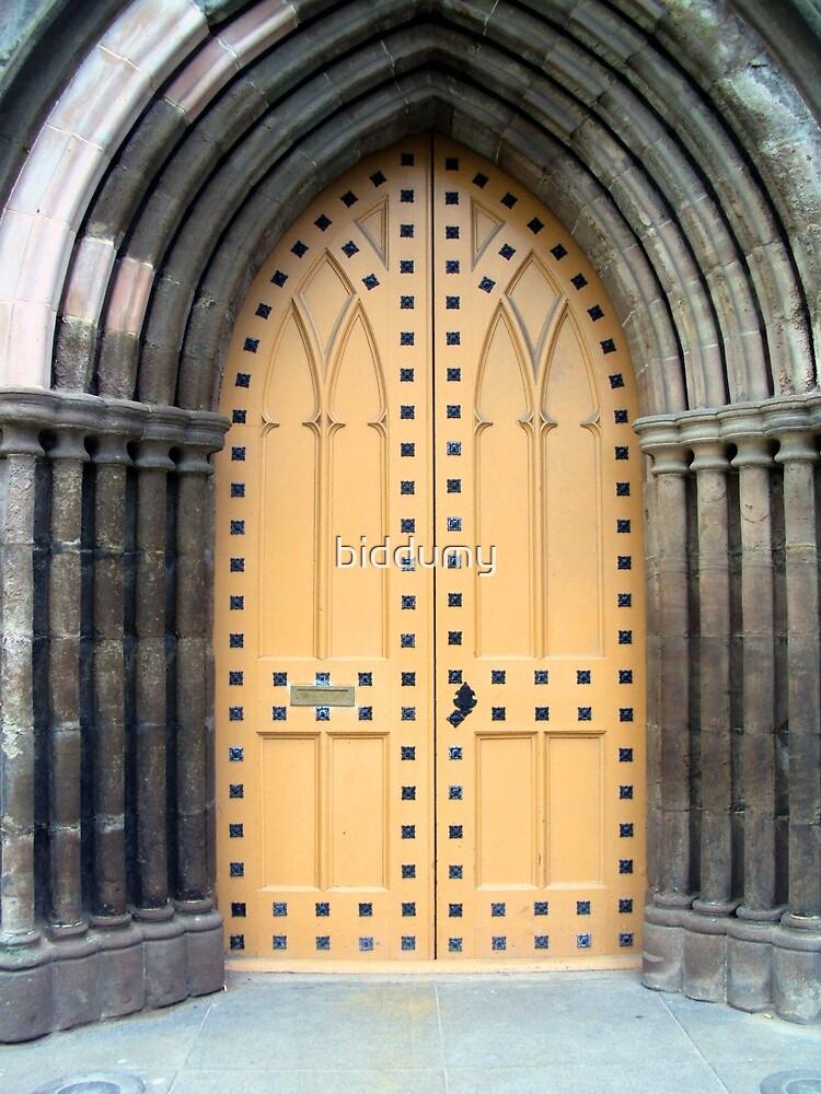 A Kirk (church) door in Perth by biddumy