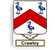 Crawley Coat of Arms (English) Canvas Print