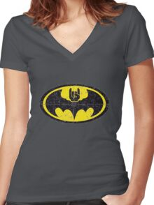 Batmetal Women's Fitted V-Neck T-Shirt