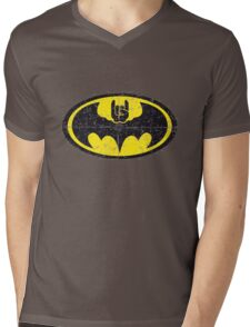 Batmetal Mens V-Neck T-Shirt