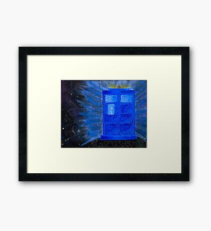Wibbley Wobbley Time Travel Framed Print