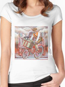 Tweed Runner on Red Pashley Women's Fitted Scoop T-Shirt