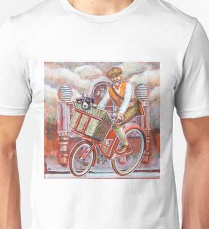 Tweed Runner on Red Pashley Unisex T-Shirt