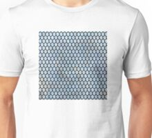 Mermaid Scales - Royal Blue Light Gold Unisex T-Shirt