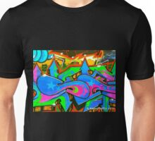 Graffiti Wall #2 West Philly Abstract Unisex T-Shirt