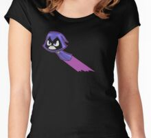 Teen Titans - Raven flying Women's Fitted Scoop T-Shirt