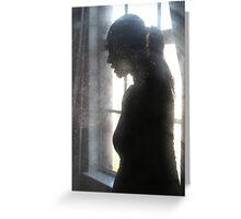 woman...window... Greeting Card