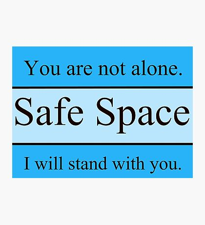 Safe Space Apparel Photographic Print