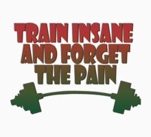 train insane and forget the pain jamaique Kids Clothes