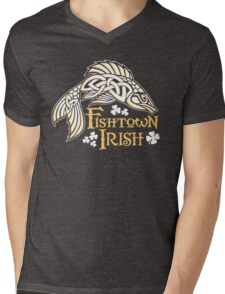 Fishtown Irish (Celtic Fish) Mens V-Neck T-Shirt