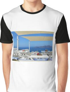 White architecture in Santorini, Greece Graphic T-Shirt