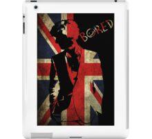 Sherlock 'Bored' Vector iPad Case/Skin