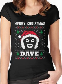 League Of Gentlemen Merry Christmas Dave! Hello Dave! Women's Fitted Scoop T-Shirt