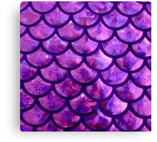 Mermaid Scales - Purple- Pink Canvas Print