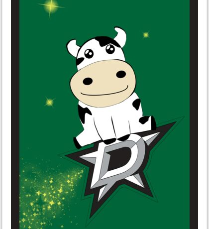 Shooting Dallas Star Cow Sticker