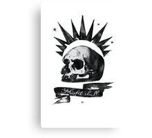 Misfit Skull - Chloe Price Canvas Print