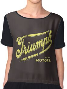 Triumph retro vintage logo Chiffon Top