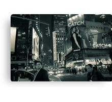Night Lights of Times Square Canvas Print