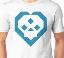 SKULL HEART (DARKBLUE) (L) Unisex T-Shirt