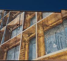 Three Dimensional Optical Illusions - Trompe L'oeil on a Brick Wall by Georgia Mizuleva