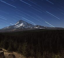 Star Trails Over Mt. Hood by Bill Lane