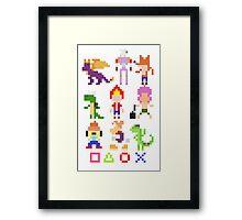 Playstation Legends pixel Framed Print