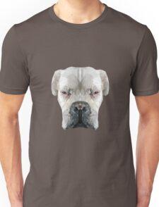 Boxer dog low poly. Unisex T-Shirt