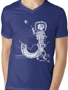 Dr. Johan Von Skinkely Investigates Sector 12 (White Version) Mens V-Neck T-Shirt