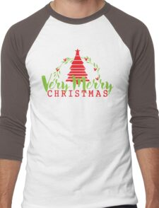 Have a Very Merry Christmas Men's Baseball ¾ T-Shirt