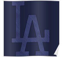 °BASEBALL° L.A. Dodgers Denim Logo Poster
