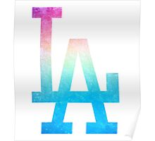 °BASEBALL° L.A. Dodgers Rainbow Logo Poster