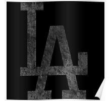 °BASEBALL° L.A. Dodgers B&W Logo Poster