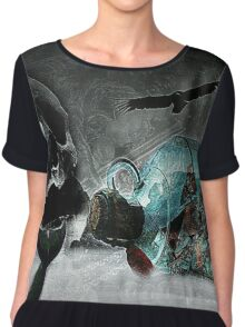 The Legend of Skull Island (A Collaboration with JR Garland) :) Chiffon Top