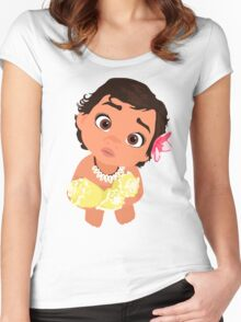 Moana kid Q Women's Fitted Scoop T-Shirt