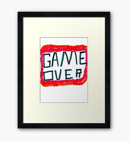 GAME OVER!!! Framed Print
