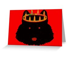 Crowned Wolf Greeting Card