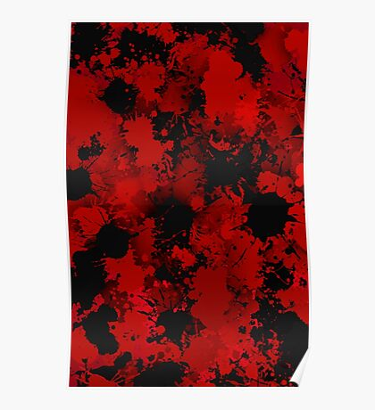 Black and red stains Poster