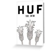 HUF FLOCK EDITION Greeting Card